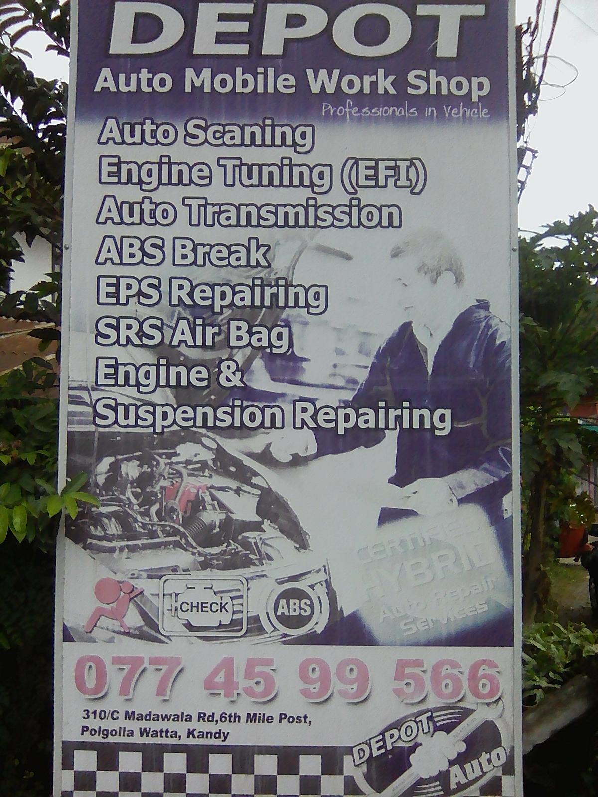 DEPOT Auto Mobile work Shop